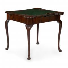 English George II Mahogany Triple Top Concertina Action Card Games Table c 1750 - 1066764
