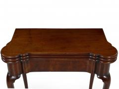 English George II Mahogany Triple Top Concertina Action Card Games Table c 1750 - 1066771