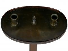English George III Antique Mahogany Adjustable Candle Stand Accent Table c 1760 - 1094337