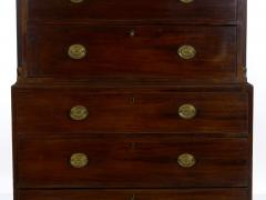 English George III Antique Mahogany Chest on Chest circa 1800 - 1089249