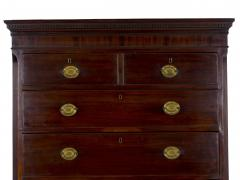 English George III Antique Mahogany Chest on Chest circa 1800 - 1089252