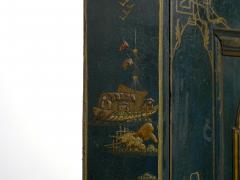 English George III Chippendale Blue Painted Chinoiserie Corner Cabinet - 1115781