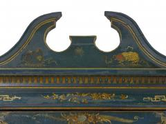 English George III Chippendale Blue Painted Chinoiserie Corner Cabinet - 1115782