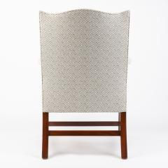 English George lll style upholstered mahogany arm chair - 1930792