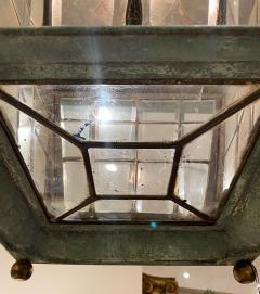 English Georgian Patinated Copper Lantern - 1279272