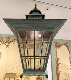 English Georgian Patinated Copper Lantern - 1279273