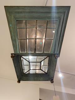 English Georgian Patinated Copper Lantern - 1279274