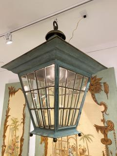 English Georgian Patinated Copper Lantern - 1279277
