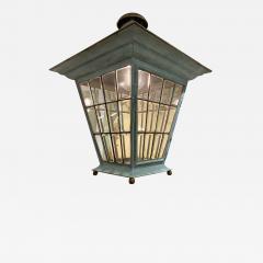 English Georgian Patinated Copper Lantern - 1280122