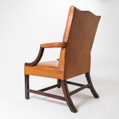 English Georgian mahogany upholstered lolling chair - 1729237