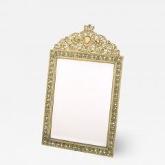 English Gilt Brass Framed Beveled Vanity Mirror - 1966844