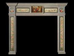 English Hand Painted Fireplace Mantel in the Neoclassical Style - 627827
