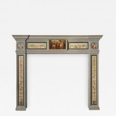 English Hand Painted Fireplace Mantel in the Neoclassical Style - 629387