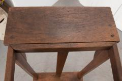 English Late 19th Century Arts and Crafts Oak Library Steps - 1014212