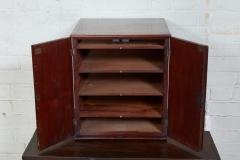 English Mahogany Collectors Cabinet Drinks Table - 1984303