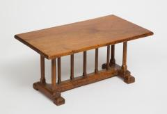 English Miniature Arts and Crafts Trestle Table - 1718698
