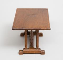 English Miniature Arts and Crafts Trestle Table - 1718700