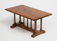 English Miniature Arts and Crafts Trestle Table - 1718701