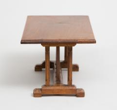 English Miniature Arts and Crafts Trestle Table - 1718702