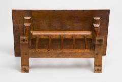 English Miniature Arts and Crafts Trestle Table - 1718703