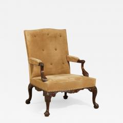 English Pair of Chippendale Period Library Gainsborough Chairs by Paul Saunders - 1312912