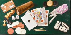 English Porcelain Still Life plaque depicting Various Game pieces  - 1881801