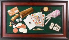 English Porcelain Still Life plaque depicting Various Game pieces  - 1881802