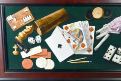 English Porcelain Still Life plaque depicting Various Game pieces  - 1881803