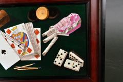 English Porcelain Still Life plaque depicting Various Game pieces  - 1881805