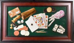 English Porcelain Still Life plaque depicting Various Game pieces  - 1882073