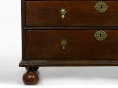 English Queen Anne Style Oak Antique Secretary Desk w Bookcase - 1115500