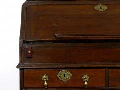 English Queen Anne Style Oak Antique Secretary Desk w Bookcase - 1115502