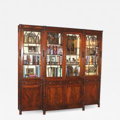 English Regency Breakfront Bookcase - 1783410