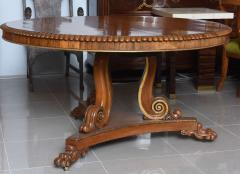 English Regency Circular Palisander and Parcel Gilt Center or Breakfast Table - 40477
