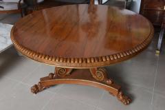 English Regency Circular Palisander and Parcel Gilt Center or Breakfast Table - 40478