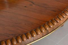 English Regency Circular Palisander and Parcel Gilt Center or Breakfast Table - 40479