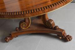 English Regency Circular Palisander and Parcel Gilt Center or Breakfast Table - 40481
