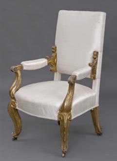 English Regency Giltwood Open Armchair Circa 1820 - 109775