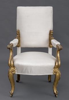 English Regency Giltwood Open Armchair Circa 1820 - 109776