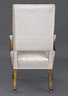 English Regency Giltwood Open Armchair Circa 1820 - 109778