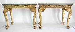 English Regency Giltwood Side Tables in the Manner of William Kent - 2127871
