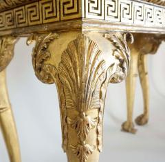 English Regency Giltwood Side Tables in the Manner of William Kent - 2127881