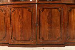 English Regency Mahogany Breakfront Cabinet - 1691331
