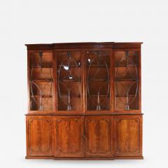 English Regency Mahogany Breakfront Cabinet - 1693364