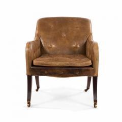 English Regency Sleigh Club Chair - 1402584