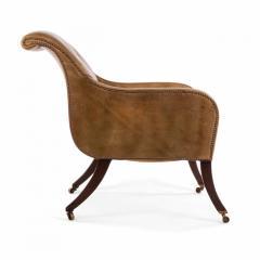 English Regency Sleigh Club Chair - 1402619