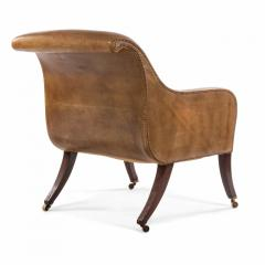 English Regency Sleigh Club Chair - 1402639