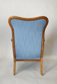 English Regency Solid Walnut Library Chair - 1806097