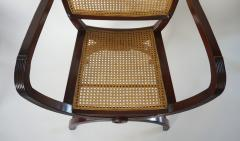 English Regency Style Mahogany and Cane Curule Form Armchairs - 845628