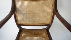 English Regency Style Mahogany and Cane Curule Form Armchairs - 845630